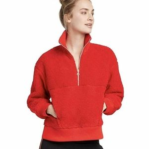 Joy Lab Red Sherpa Pullover Large